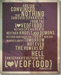 Romans 838 the love of God