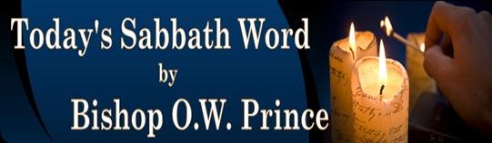 TODAYS SABBATH WORD