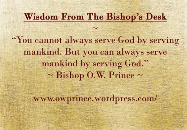 Serving God Serving Man